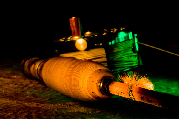 Light painted rattan